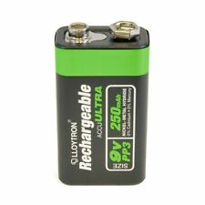 Lloytron Rechargeable 9V PP3 250mAh 1000 Charge Ni-MH Batteries 2 X Longer