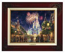 Thomas Kinkade Main Street USA 12 x 16 Canvas Classic (Brandy Frame) Disney