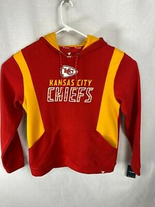 NWT KANSAS CITY CHIEFS Men's Hoodie Sweatshirt By Fanatics Red & Gold Size Large