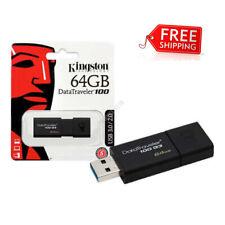 New Kingston 64GB USB 3.0 DataTraveler 100 G3 64G USB Flash Drive