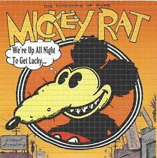 BLOTTER ART ORIGINAL MICKY RAT SIGNED BY ARTIST ROBERT ARMSTRONG  Perforated