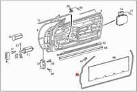 Genuine Garnish Moulding MERCEDES W113 Cabrio 1137280135