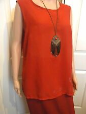 Millers Ladies red sleeveless Summer blouse size 14