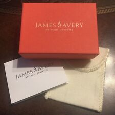 James Avery Jewelry Gift Presentation Box w/ Felt Pouch and Card