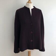 OSKA Jacket Size 3 Purple Wool Blend Lagenlook
