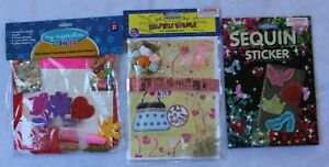3 Packets (Handbag Kit, Sequin Stickers & Glitter, Foam Shapes)