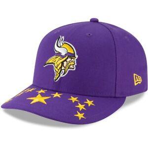 Minnesota Vikings Hat New Era 59Fifty Low Profile Fitted Cap SZ 7 7-1/2 Purple
