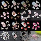 10Pcs 3D Nail Art Tips Alloy Rhinestones Crystal Glitter Gem Decoration Jewelry