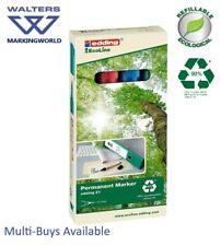 Edding 21 EcoLine Permanent Marker Pens, Eco-Friendly, Refill, Assorted Box 4