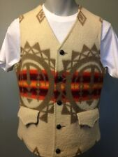 Vtg Pendleton Wool Vest High Western Cowboy Rodeo Mens 40 Navajo Indian Blanket