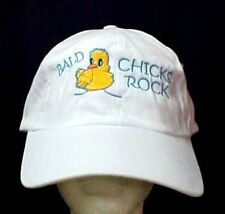 Bald Chicks Rock Baseball Hat Chemo White Cancer Cobra Teal Embroidery New