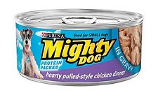 Purina Mighty Dog Wet Dog Food - 24-5.5 oz. Cans Pulled-Style C... Free Shipping