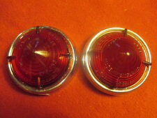 Lucas NOS L538 Pair Red Lenses, Lotus Elite, Daimler SP250, Austin, Morris