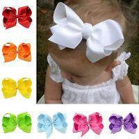 10PCS Baby Girls Hairpin Big Ribbon Bows Boutique Hair Clip Hair Accessories