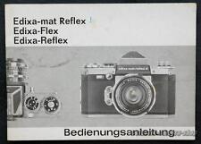 Manuale d'uso Wirgin Edixa Mat Reflex/Flex/Reflex user manual x2668