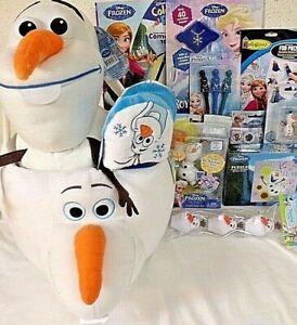 NEW PRINCESS DISNEY KIDS FROZEN EASTER TOY GIFT BASKET GIANT OLAF FIGURE TOYS