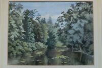 Original Mid 20th century Watercolour landscape painting by Howard Warner signed