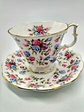 """Royal Albert Bone China Footed Teacup and Saucer Nell Gwynne Series """"Mayfair"""""""