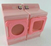 Vintage Barbie Pink Washer & Dryer with Opening Doors 1990  Full Size
