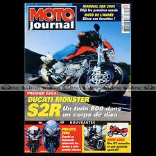 MOTO JOURNAL N°1641 YAMAHA BULLDOG DUCATI MONSTER S2R TRIUMPH T 100 BONNEVILLE