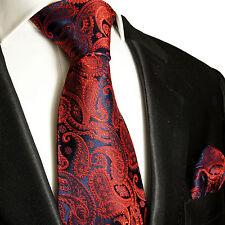 Rotes XL Krawatten Set 2tlg (extra lange 165cm) 100% Seide Paul Malone 464