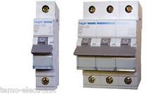 HAGER-LS-Schalter-Sicherungsautomaten MBN MBS MCN MCS; FI-Schalter CDA CDS