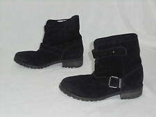 Diesel We Love Prairie Eagles Faux Fur Lined Ankle Boots Black Size 7 MM1 $195