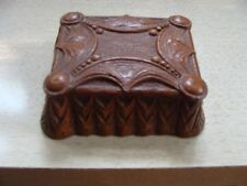 Vintage Syroco Pressed Wood Ornate Cigarette Holder Coffee Table Trinket Box