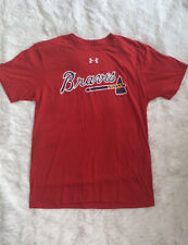 Under Armour Atlanta Braves Mens Size XL Baseball Short Sleeve T Shirt