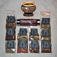 Räucherset Räuchersortiment Hexenkiste Starterset 12 Teile Räuchergefäß MESSING
