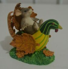 Charming Tails Turkey Traveler Figurine by Fitz and Floyd 85/702 Dean Griff