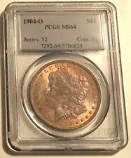 1904-O $1 Morgan Silver Dollar PCGS MS64 golden tones everywhere!