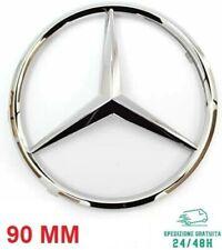 Fregio Logo Stemma Baule Posteriore per MERCEDES 90mm Classe C E S ML VITO SLK