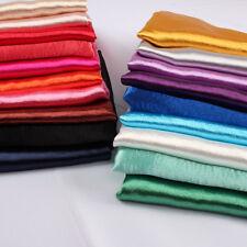 Glossy Crepe Satin Shiny Thick Polyester Fabric Wedding Baseball Coat by 1 yard