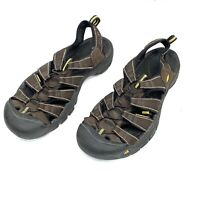 Keen Men's Newport H2 Hiking Sandals Brown Bungee Straps Waterproof Size 12