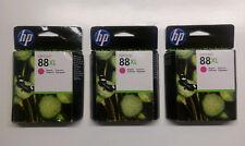 3 x hp Original 88XL Magenta C9392A Officejet pro L 7555 7550 7500 a Sealed 2014