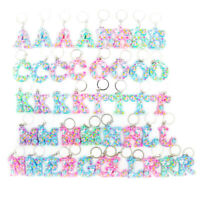 Cute Letter Unicorn Keychain Women Girls Keyring Handbag Bag Pendant Key Chain