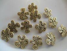 LOT OF 13 GOLD COLOR 15/16 INCH SHANK BUTTONS NEW
