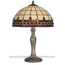 Innenraum-Tischlampen im Tiffany-Stil aus Glas