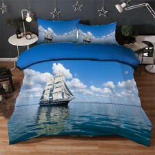 Great Boar Sailing 3D Quilt Duvet Doona Cover Set Single Double Queen King Print