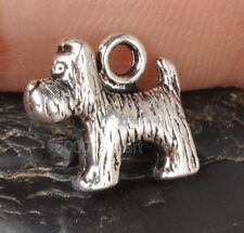 10Pcs Tibetan Silver  charm 3D DOG pendants Fit jewelry  12x13mm A3304