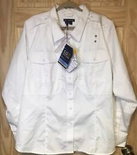5.11 Tactical Series Women's Size4x Patrol Duty Uniform B-class Shirt White NWT