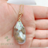 18-34mm Huge Purple Baroque Pearl Pendant 18 inches Necklace South Sea fashion