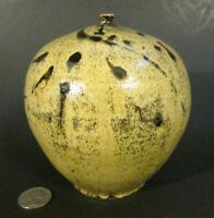 "ROY PEDERSEN Signed Mid Century Studio Art Pottery 5"" MOON POT Vase Vessel MCM"