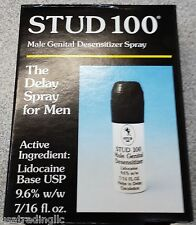 Genuine (Authentic UK) Stud 100 Male Genital Desensitizing Spray 7/16 oz 06/2020
