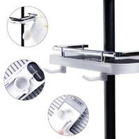 Shelf Shower Pole Storage Caddy Rack Organiser Tray Holder Bathroom T0G6