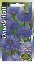 Flower Seeds Cornflower Double Ball Blue Bed Garden Pictorial Packet UK 200 Seed