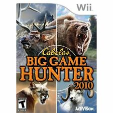 Cabela's Big Game Hunter 2010 Game Only For Wii And Wii U Shooter Very Good 6E