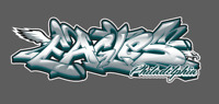 Philadelphia Eagles Graffiti Vinyl Decal 8x3