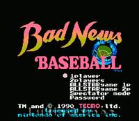 Bad News Baseball - NES Nintendo Rare Game